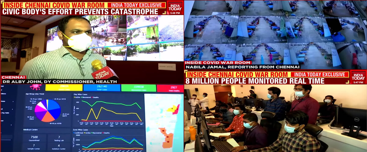 Chennai COVID War Room covered by India Today