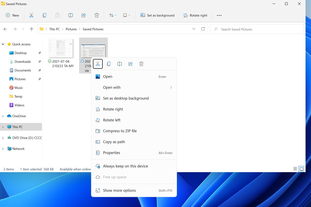 Cleaner looking File Explorer in Windows 11