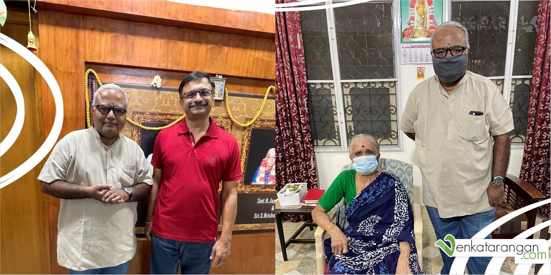 Mr Pa Raghavan, Venkatarangan and my mom
