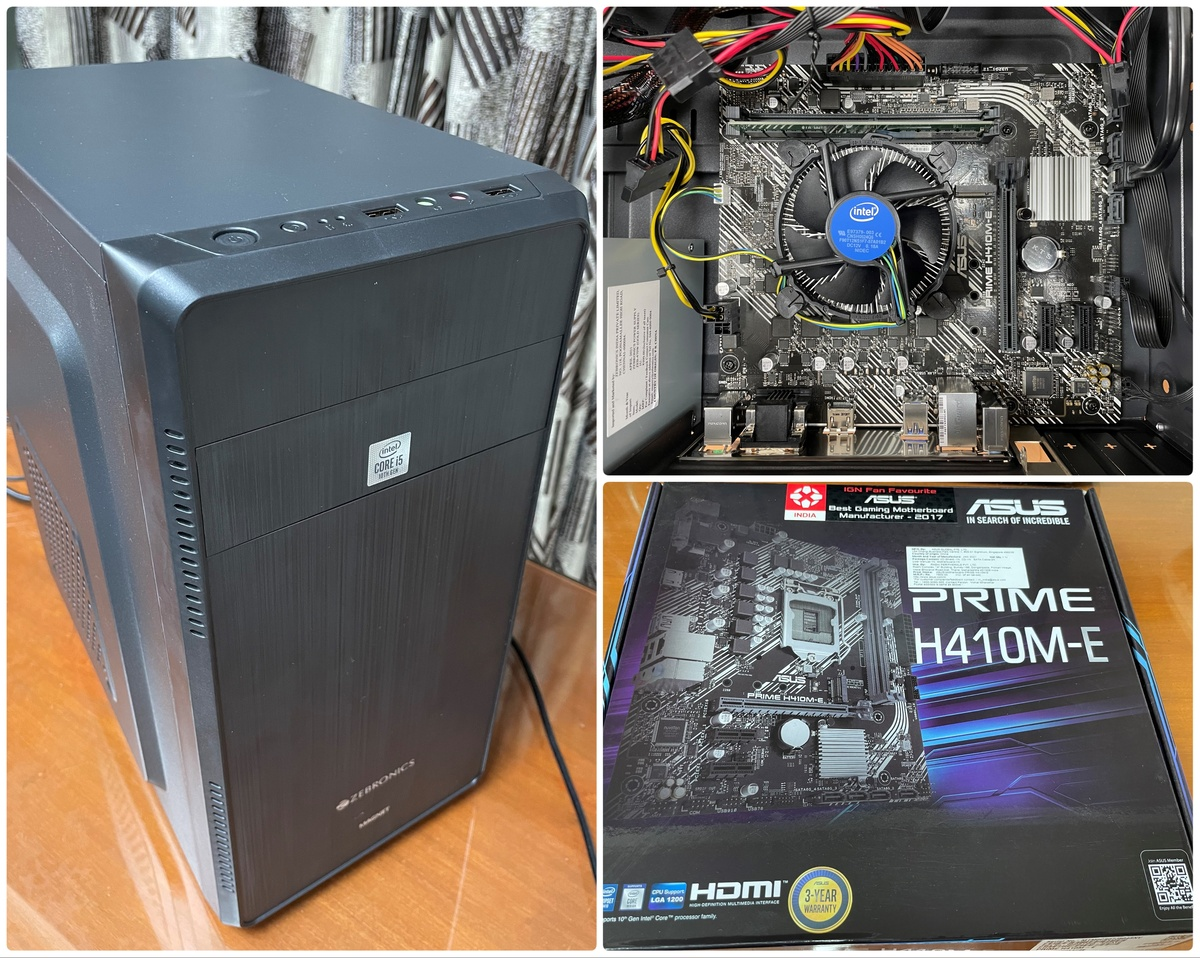 Intel Core i5 10400 PC with Asus Prime H410M-E Motherboard