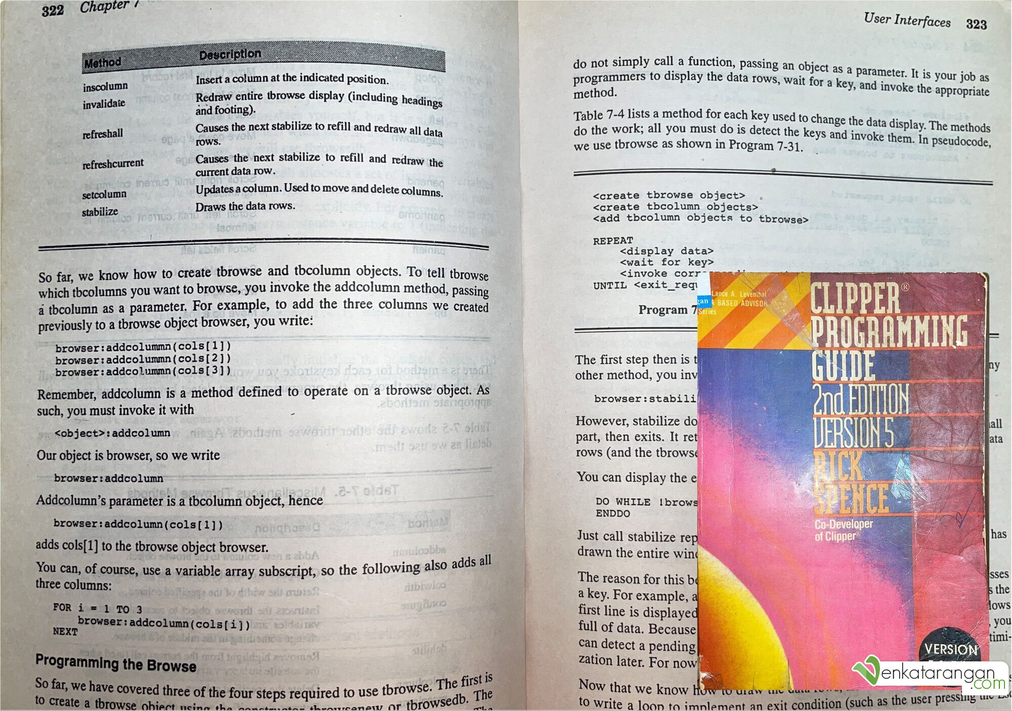 Clipper Programming Guide 2nd Edition Version 5 by Rick Spence, Co-Developer of Clipper