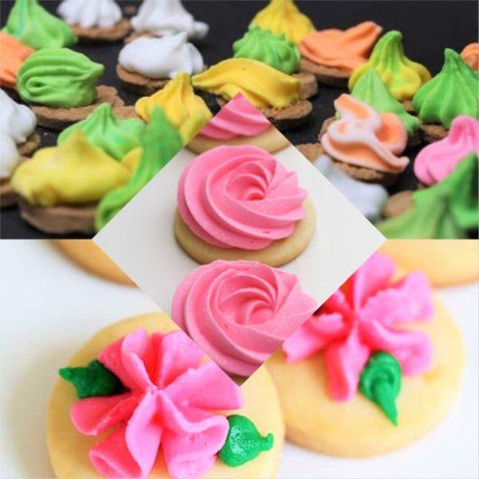 Sugar Cream Colour Flower Biscuits (Pic Courtesy: Internet)