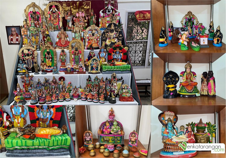 Seen above: Lord Kubera, Srirangam Sri Ranganatha, Sri Uppliyapar, Story of Sri Andal & Sri Athivaradhar