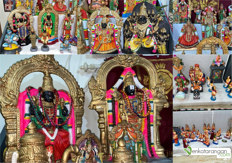 Seen Above: Tirupati God Balaji & Goddess Padmavathy and others